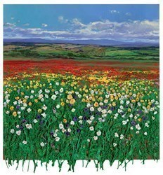 Campo de Amapolas by Ramon Vila -  sized 30x32 inches. Available from Whitewall Galleries
